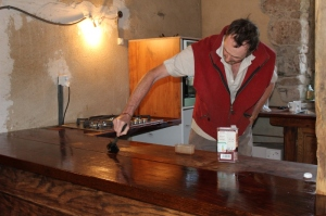 Treating the oak - second coat