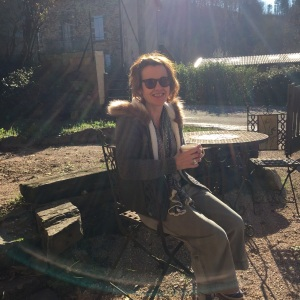 Winter drinks in the sun